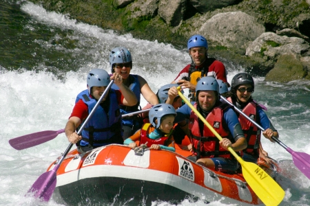 Rafting sur le gave